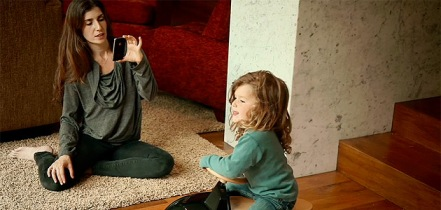 taking pic of kid