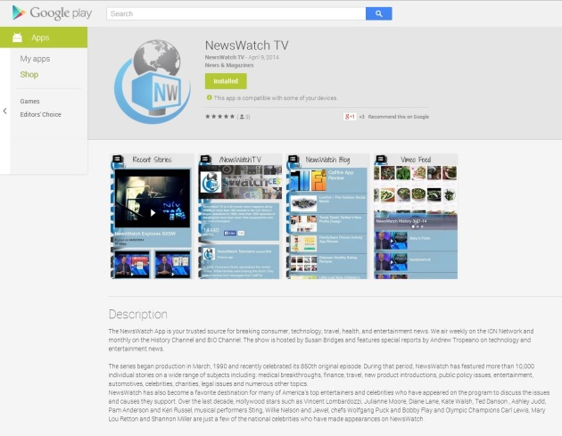 google play newswatchtv