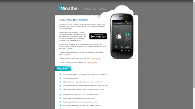 1WeatherApp Website